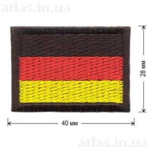 клеевая нашивка флаг германии