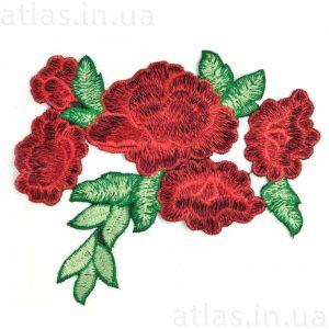 красные розы аппликация на одежду