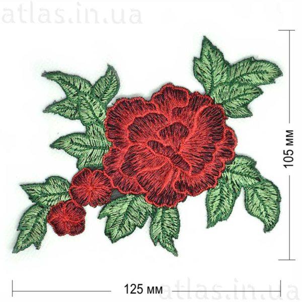 красная роза три бутона