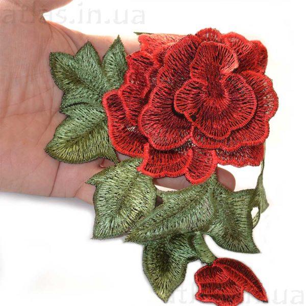 вышитая роза сетка