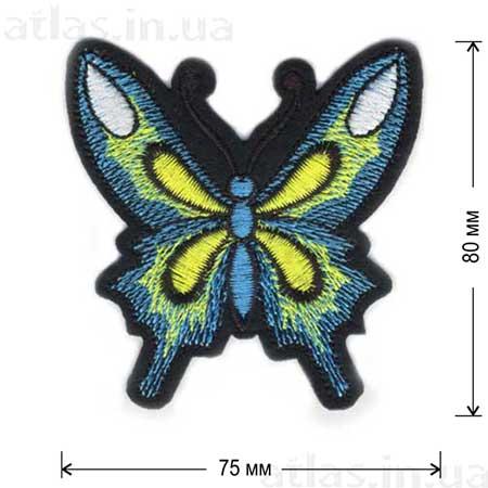 бабочка желто-голубая нашивка