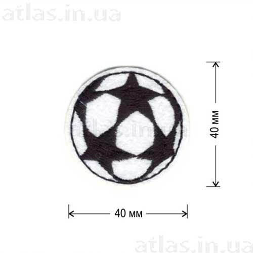 белый футбольный мяч нашивка на форму