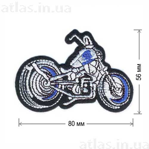 мотоцикл байкера нашивка