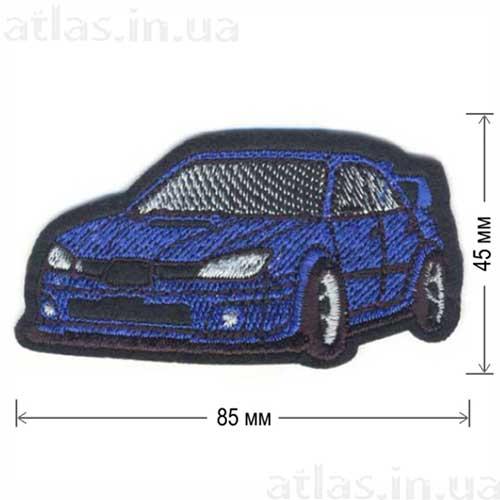 нашивка спортивная машина синяя