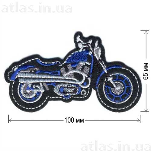 старинный мотоцикл нашивка