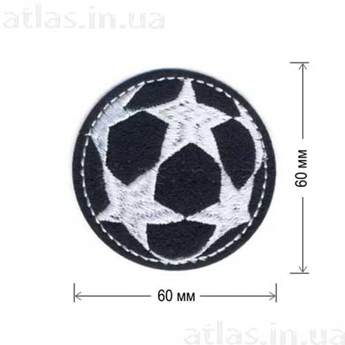 круглый футбольный мяч со звездами нашивка