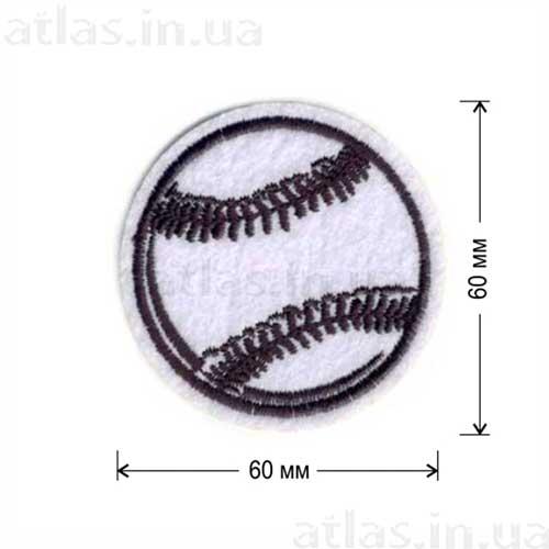нашивка белый теннисный мяч