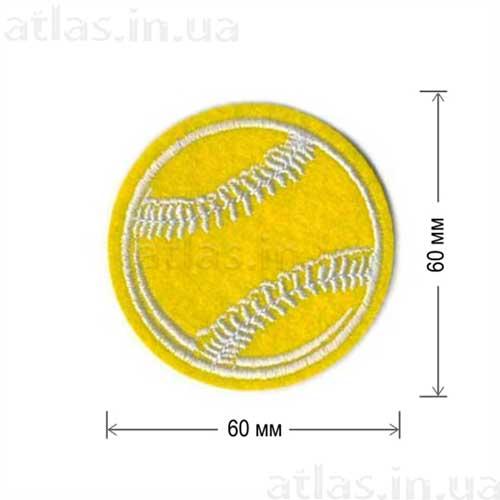 желтый теннисный мяч нашивка