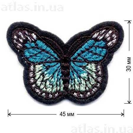 зеленая бабочка нашивка