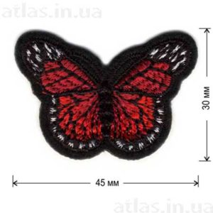 красная бабочка нашивка