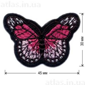 розовая бабочка нашивка
