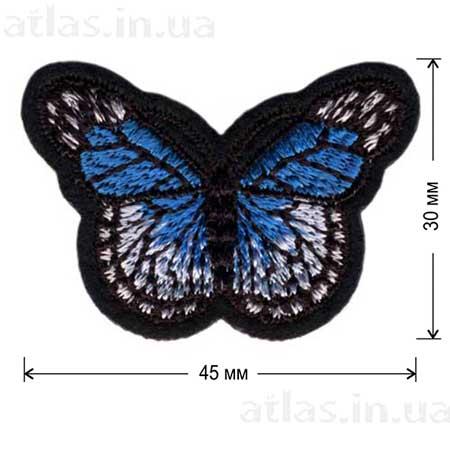 синяя бабочка нашивка
