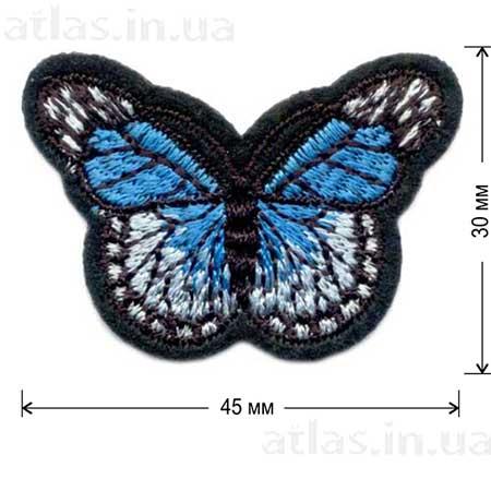 голубая бабочка нашивка