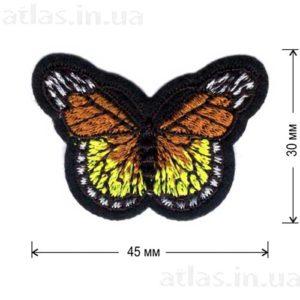 оранжевая бабочка нашивка