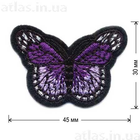 фиолетовая бабочка нашивка
