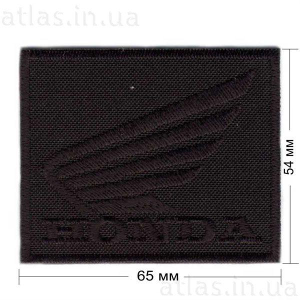 honda нашивка черная 65х54 мм