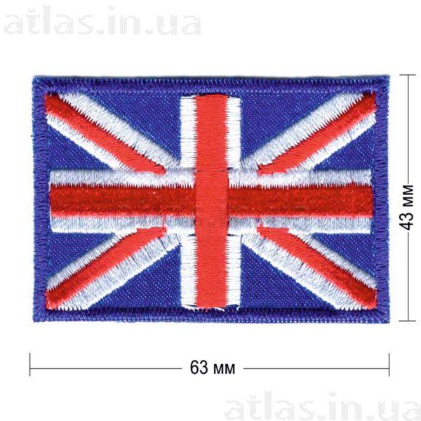 united-kingdom нашивка синяя 63х43 мм