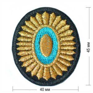 золотая кокарда с кругом