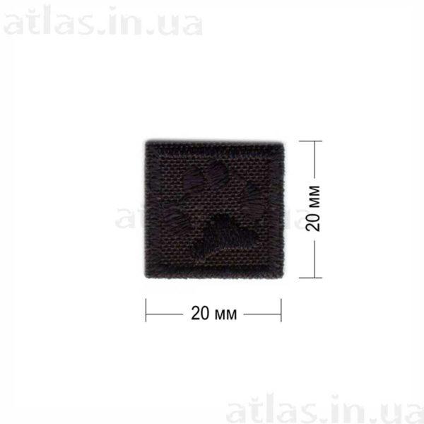 p20 нашивка черная 20х20 мм