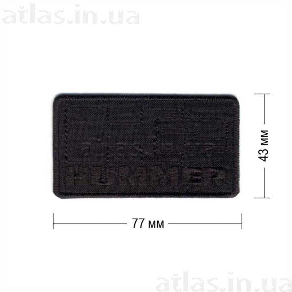 hummer-h2 нашивка черная 77х43 мм
