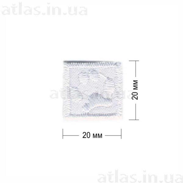 p20 нашивка белая 20х20 мм