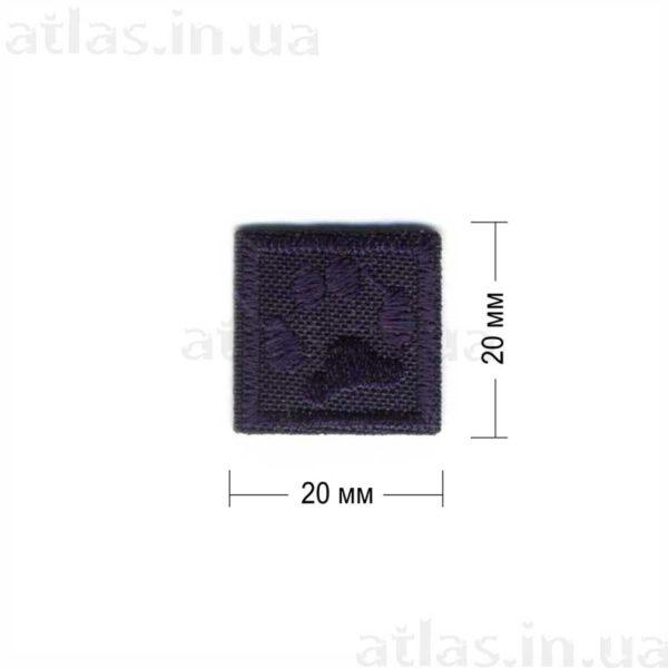 p20 нашивка темно-синяя 20х20 мм