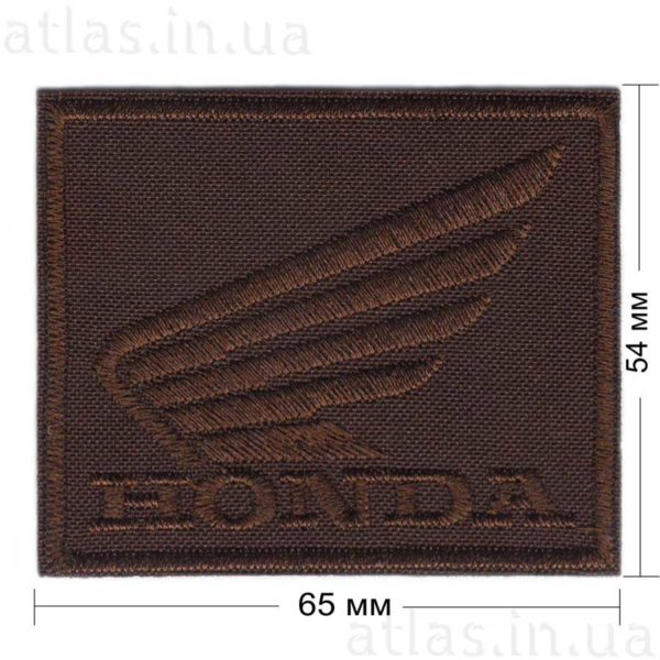honda нашивка коричневая 65х54 мм