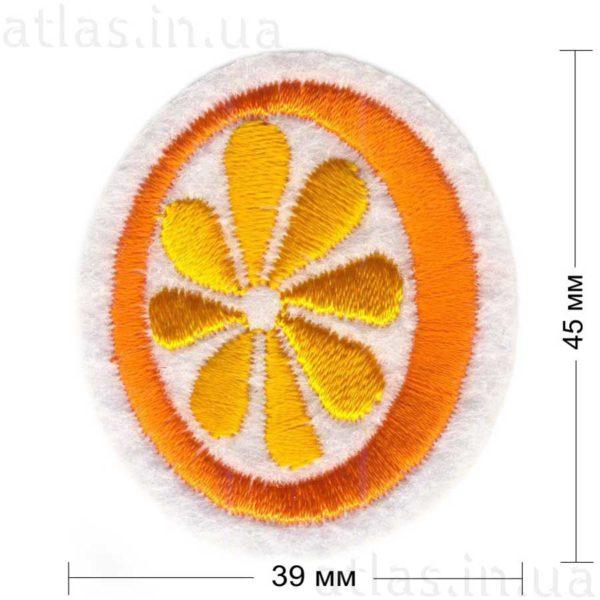 вышитая нашивка лимон