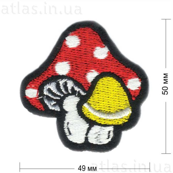 грибы модная нашивка