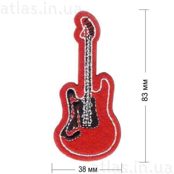 гламурная нашивка гитара