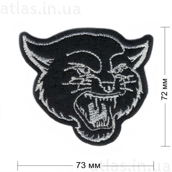 черная пантера нашивка 70х60 мм