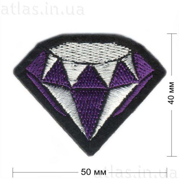 фиолетовый бриллиант модный патч