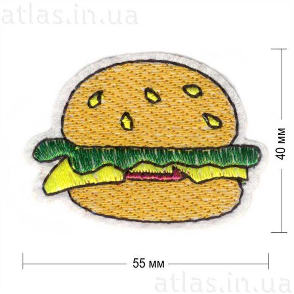гламурная нашивка гамбургер