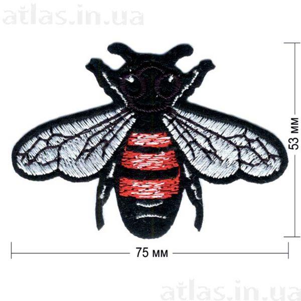 fly нашивка черная 75х53 мм