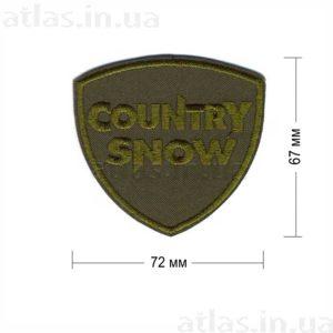country snow нашивка хаки