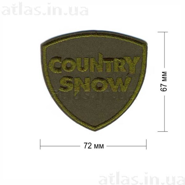 country snow нашивка хаки