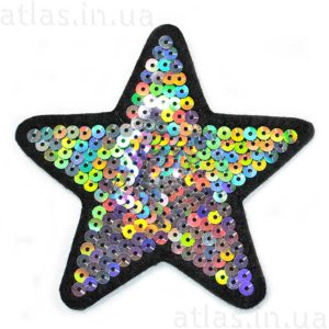 нашивка звезда пайетка