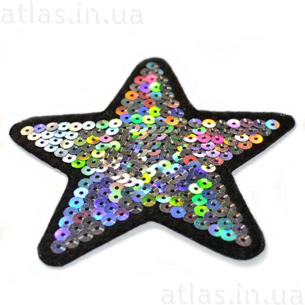 звезда модная нашивка пайетка