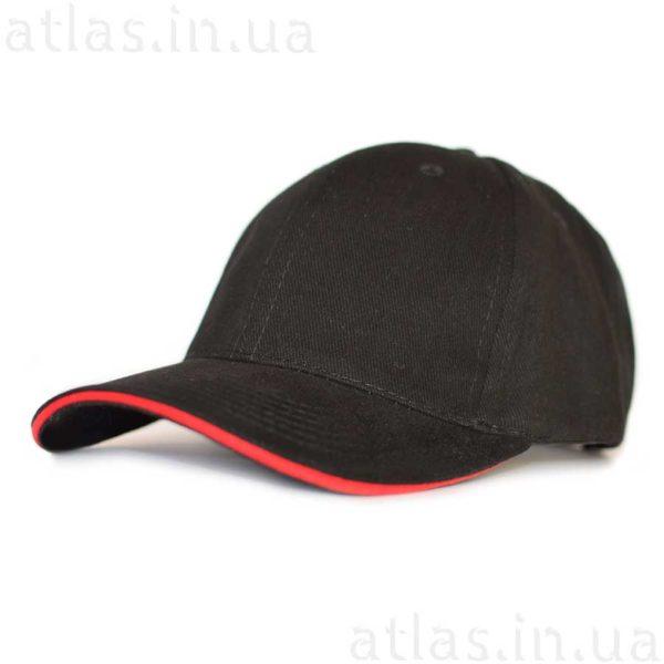 черная кепка к красным кантом