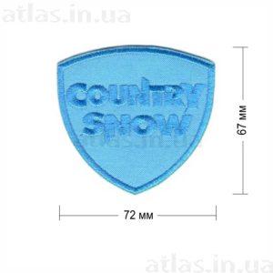 country snow нашивка голубая