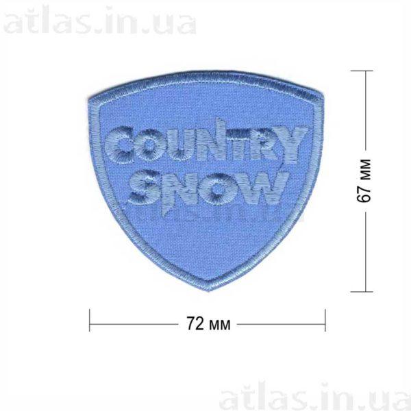 country snow нашивка снежно-голубом фоне