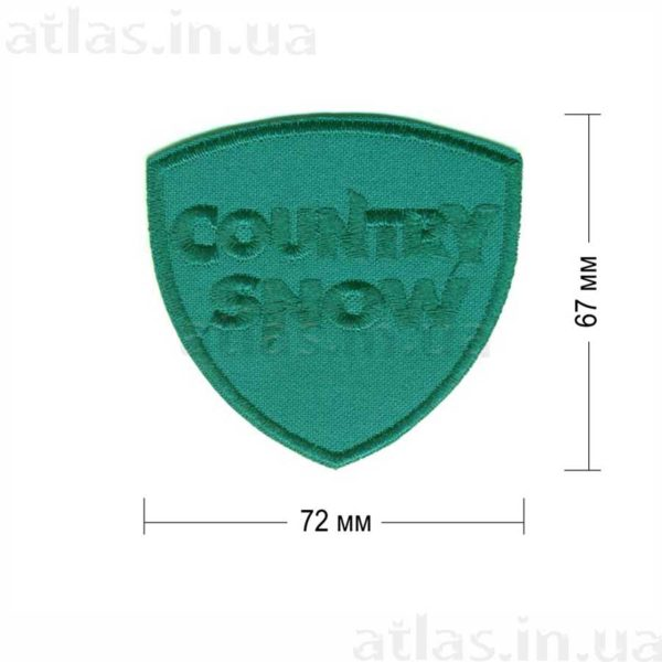 country snow нашивка на зеленом
