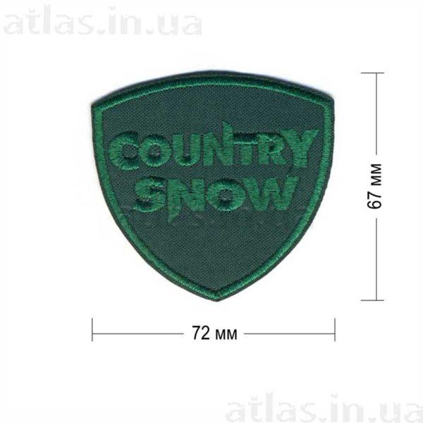 country snow нашивка зеленая