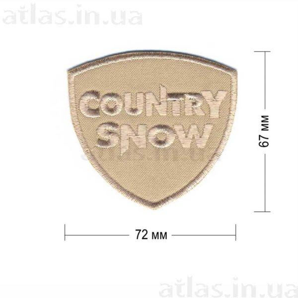 country snow нашивка бежевая