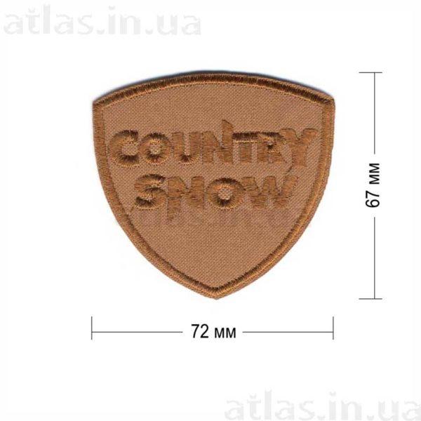 country snow нашивка коричневая