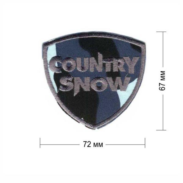 country snow нашивка голубой камуфляж