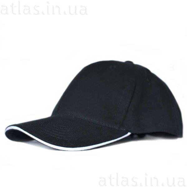 черная кепка белый кант