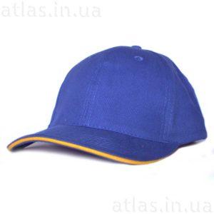 синяя бейсболка желтый кант