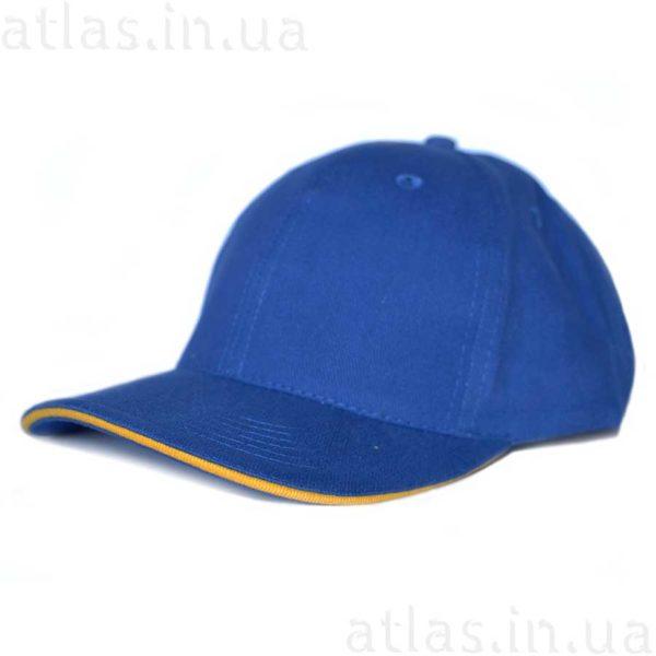 синяя кепка желтый кант