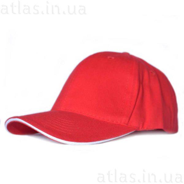 красная кепка белый кант